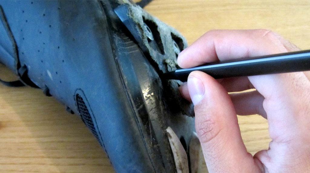 markeren positie oude schoenplaatjes