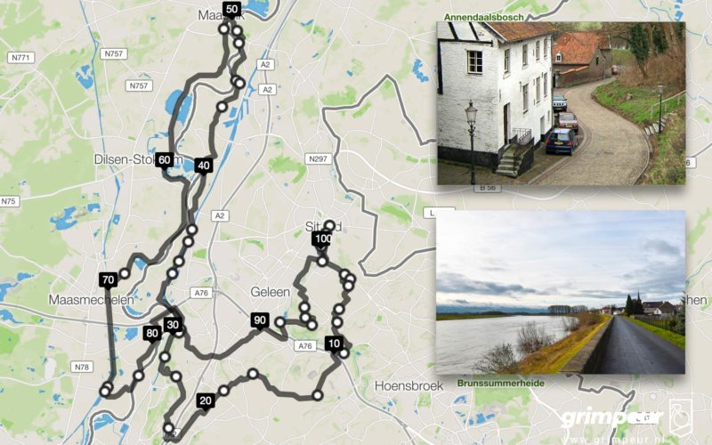 Grimpeur route, Sittard Maas en Grensmaasvallei
