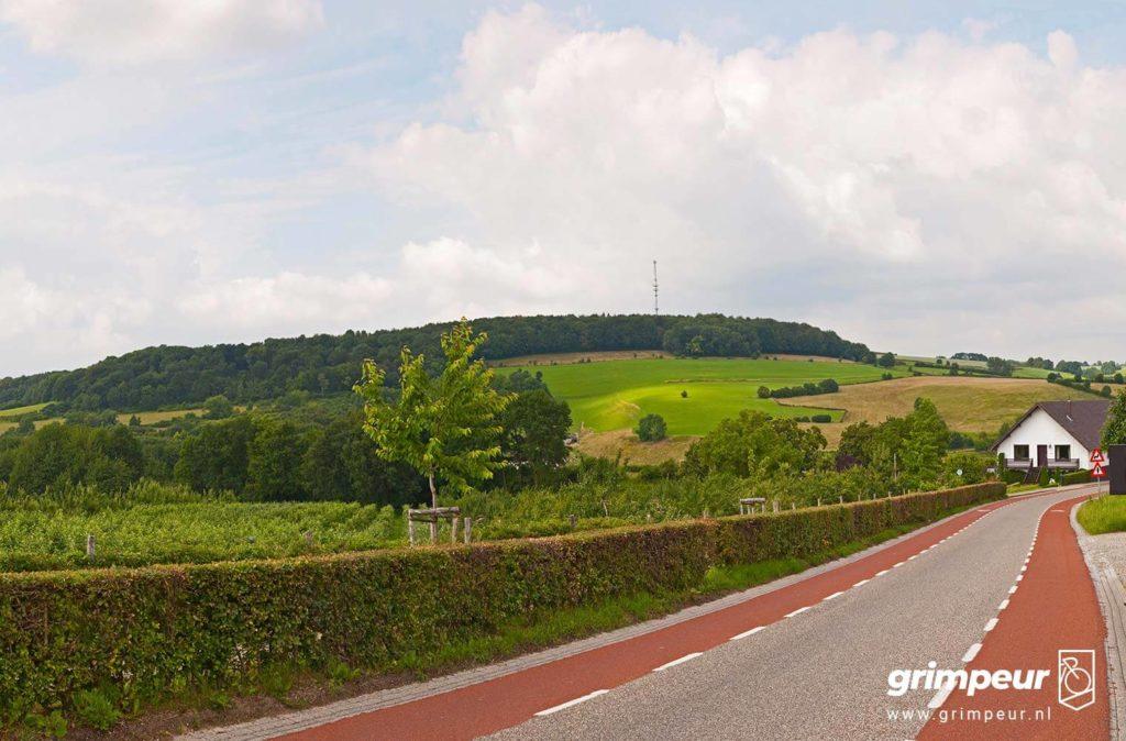 Uitzicht op de Eyserbosweg Wielrennen in Zuid-Limburg