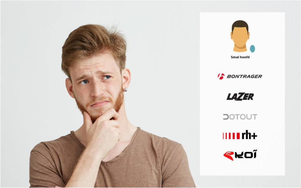 Fietshelm merken die passen bij een smal hoofd