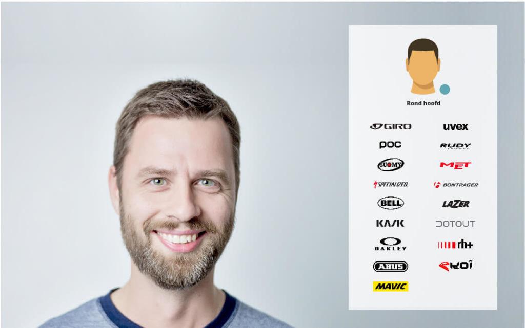 Fietshelm merken die passen bij een rond hoofd