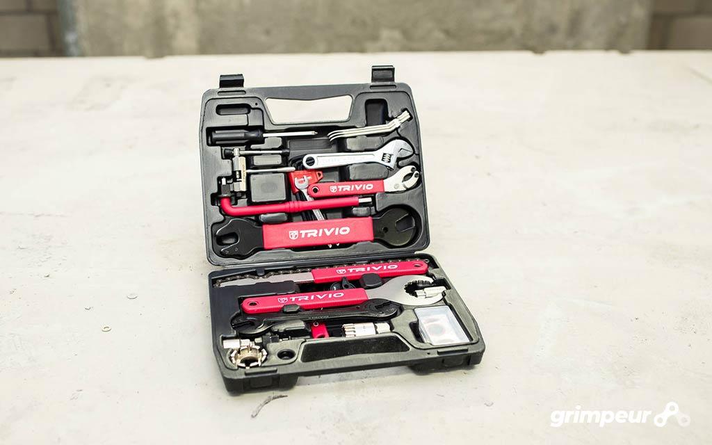 Toolbox voor racefiets onderhoud en reparaties